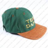 Бейсболка DAIWA Team Daiwa зеленая с коричневым козырьком