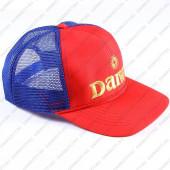 Бейсболка DAIWA красная с синей сеткой